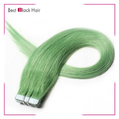 18-24 Inch Straight Tape Hair Extension green tape in remy hair skin weft human hair extension