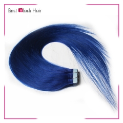 18-24 Inch Straight Tape Hair Extension blue tape in remy hair skin weft human hair extension