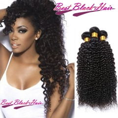 8 Inch - 30 Inch Curly 100% Malaysian Remy Hair Weave Natural Black 100g