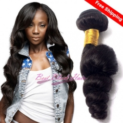 8-26 Inch Good Quality Cheap Human Hair Weave Loose wave 3 bundles/ 4 bundles  Free Shipping