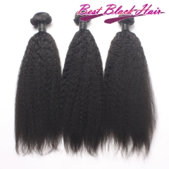 8-30 Inch Super Grade Soft Brazilian human hair weave natural Kinky straight natural color