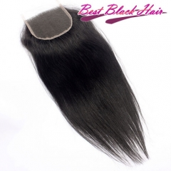 Normal Grade 8-22 Inch 4*4 Lace Closure Straight human Hair(Free Part, Middle Part & Three Part )