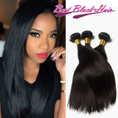 8-30 Inch Super Grade Brazilian Straight natural black human hair weave for black women 3 Bundles Free Shipping