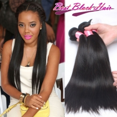 Top Grade 100% Unprocessed Brazilian hair Straight 3 Bundles Free Shipping