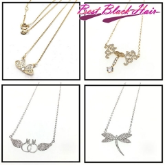 Luxury Necklace For Girl Bracelet Fashion Full Rhinestone Jewelry For Women Free Shipping
