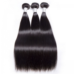 【12A 3PCS】Brazilian Straight Hair Bundles 100% Human Hair 3pcs Bundles Brazilian Weaving Bundles Virgin Hair Straight Hair