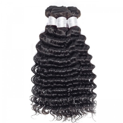 【12A 3PCS】Deep Wave Malaysian Hair Bundles 100% Human Hair 3pcs Bundles Malaysian Weaving Bundles Virgin Hair Deep Wave Hair