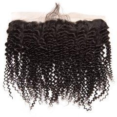 12A Lace Frontal Deep Curly 13x4 Frontal Closure Natural  100% Human Hair Frontal Lace Closure Virgin Deep Curly Hair
