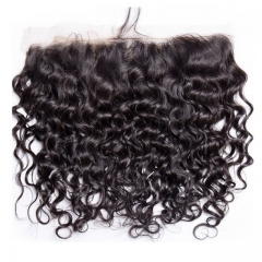 12A Lace Frontal Italy Curly 13x4 Frontal Closure Natural  100% Human Hair Frontal Lace Closure Virgin Italy Curl Hair