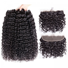【12A 3PCS+Frontal】Italy Curl Human Hair Bundles with Lace Frontal Closure Peruvian Italy Curl 3Pcs Hair Bundles With 1pc Frontal Closure  Peruvian Hai