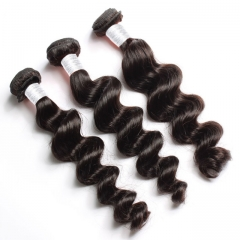 【12A 4PCS】 Peruvian Loose Wave Hair Bundles Loose Wave Peruvian Virgin Human Hair No Shedding No Tangle Free Shipping