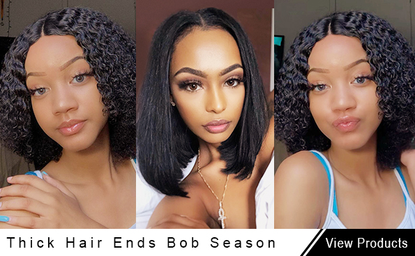 Thick bob wig