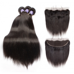3PCS WITH LACE FRONTAL CLOSURE HUMAN HAIR ALL TEXTURES
