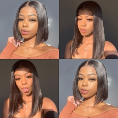 13*6 STRAIGHT LACE FRONTAL BOB WIG 150% DENSITY LACE WIG