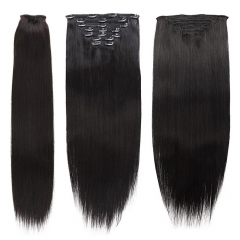 CLIP IN HUMAN HAIR EXTENSIONS 8PCS/SET 120G​​​​​​​