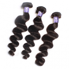 3PCS HUMAN HAIR BUNDLES LOOSE WAVE