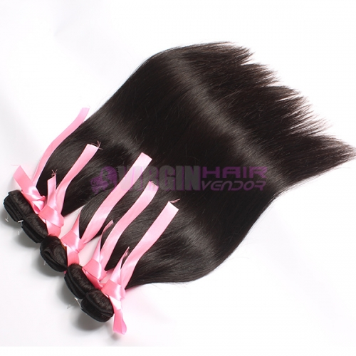 Top grade wholesale real straight hair extension brazilian virgin  hair bundles
