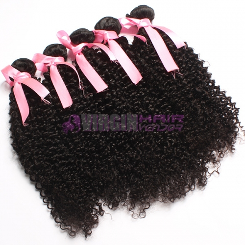 Hot selling  from one donor brazilian kinky curly hair weave