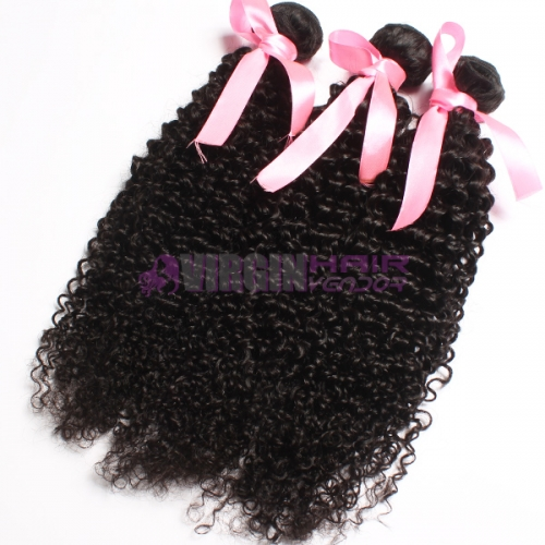 Top grade from one donor Peruvian kinky curly hair weave