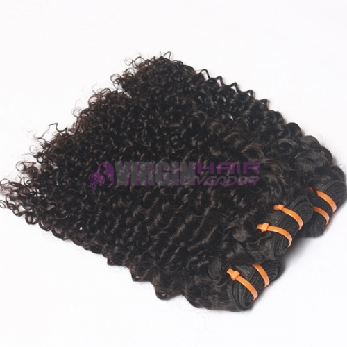 100% no shedding kinky curly real Peuvian hair