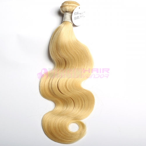 Wholesale price body wave raw virgin unprocessed human blonde hair