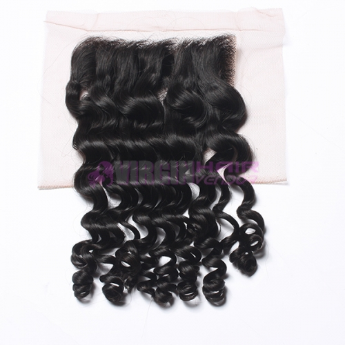 8-18 Inch Top Gade 4x4 inch Lace Closure Deep curl Free part & Middle part three part on full stock