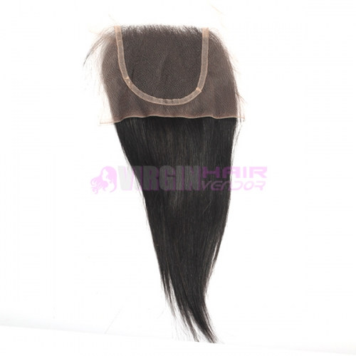 8-18 Inch Top Grade Natural Straight 4x4 inch Lace Closure 100% virgin hair
