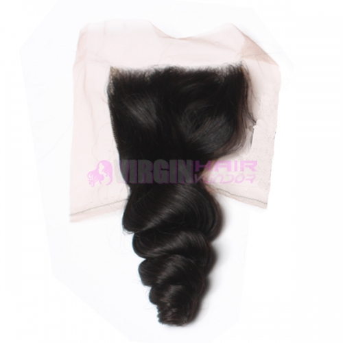 8-18 Inch Top Gade 4x4 inch Lace Closure Loose wave free part on selling