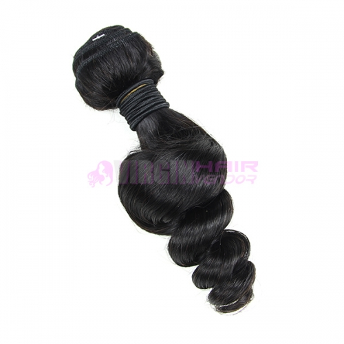 Good grade 8-30 inch loose wave hair weave natural color