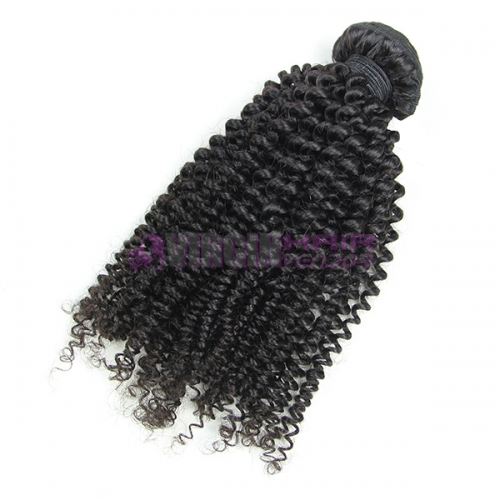 Good grade 8-30 inch 100% Untreated Kinky curl human hair extension