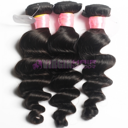 Super grade 8-30inch Free Shipping 3 Bundles Loose Wave  Sexy Peruvian Virgin Hair