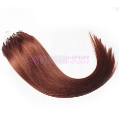 Fashion Keratin Fusion Loop Tip Hair 100% Cheap Indian Remy Micro Loop Ring Human Hair