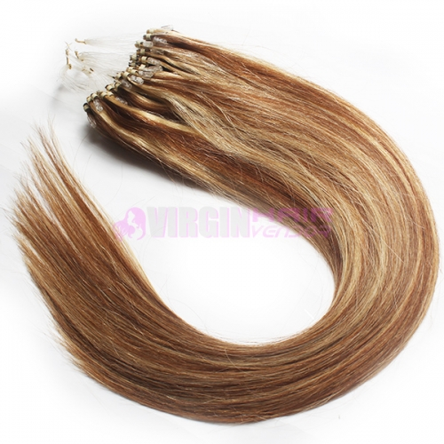 Brazilian remy hair micro loop hair extension hair natural straight