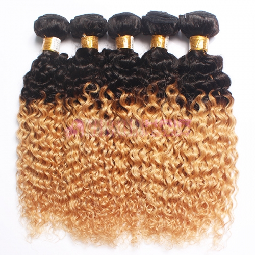 Cheap curly Brazilian hair weave,ombre hair weaves,factory price Brazilian hair