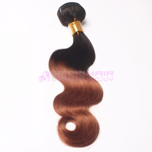 Top grade real virgin human hair Malaysian ombre hair weaves
