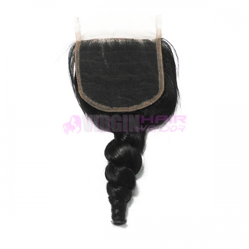 Wholesale most popular unprocessed brazilian free parting cheap lace closure