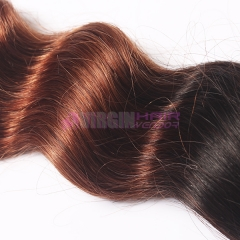 Ombre virgin Human Hair Weave  Omber Loose wave weave color 1b/30