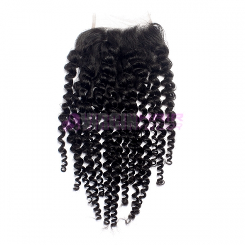 Super Quality 8-24ich wholesale black hair free parting lace closure