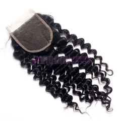 Super Quality  virgin brazilian human curly hair lace closure