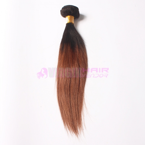 Omber human hair weft #1b/30 Straight Malaysian virgin hair