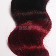 Malaysian Virgin Hair Straight 1B/bug Omber Malaysian Hair Bundles Ombre Peruvian Hair Extension