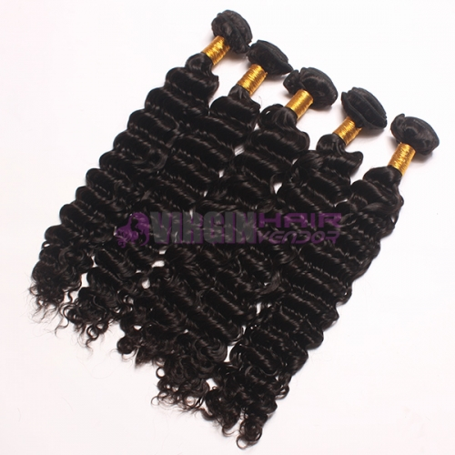 Super grade 8-30inch virgin Deep wave cheap Peruvian virgin hair bulk