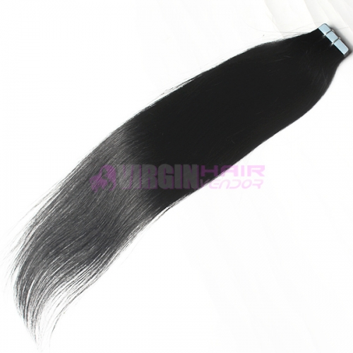 Wholesale Remy skin weft hair tape on hair extension #1
