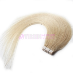 Skin Weft 40pcs Indian Remy Human Hair Tape Hair Extension #60 on stock