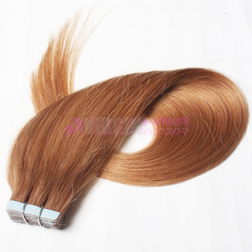 100% indian Remy Human Hair #10 PU weft thin Skin Weft on stock