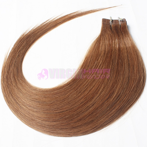 "Factory 20"" Tape in Skin Weft 100% Remy invisible tape hair extensions #8"