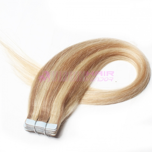 Any color available skin weft double sided tape remy invisible tape hair extensions