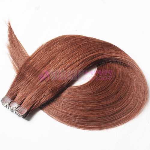 Factory wholesale human hair PU skin weft #33 on stock