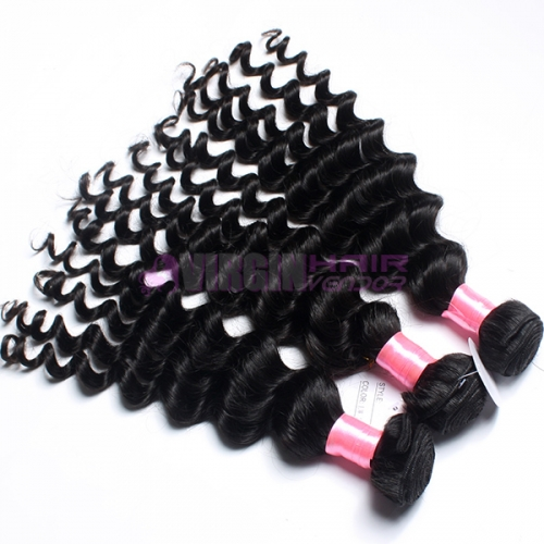 Super grade 8-30inch Tangle free Curly Hair Natural Color Virgin Peruvian Hair