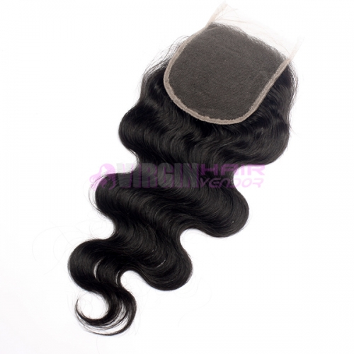 Cheap Brazilian Human Hair 4X4 Natural Part Lace Closure